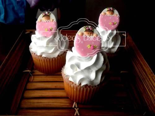 Cupcakes para el Baby Shower de una niña
