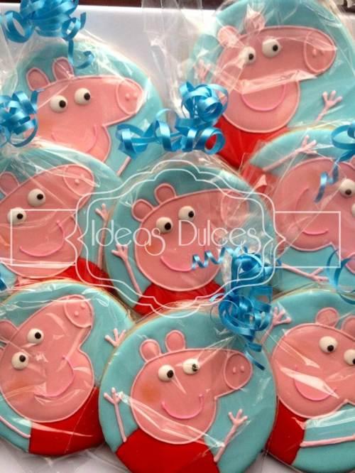 Galletas inspiradas en PEPPA PIG