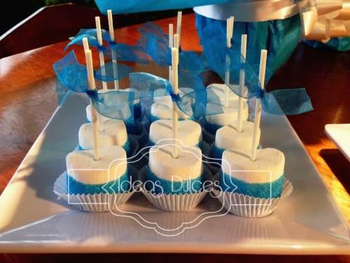 Masmelos para Mesa Dulce en fiesta temática de Frozen.