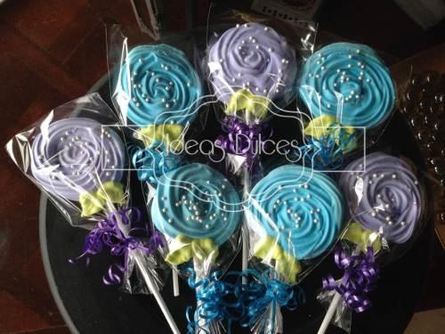 Rosas de Merengue para Fiesta de Frozen