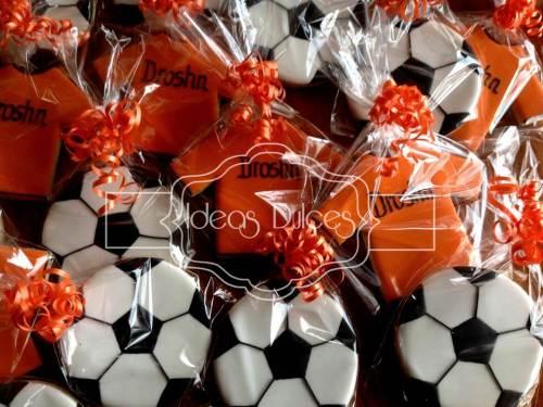 Galletas de Fútbol para el cumpleaños de Droshn
