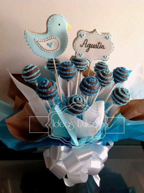 Arreglo Cake Pops de Bienvenida para Agustín