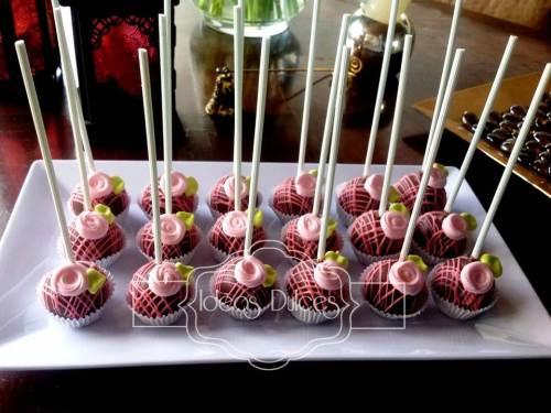Cake Pops para Mesa Dulce de 15 Años