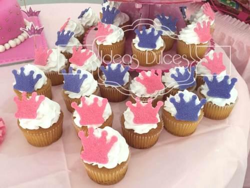 Cupcakes para fiesta Princesas Disney
