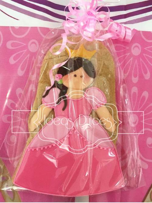 Galletas Recordatorio para fiesta Princesas Disney