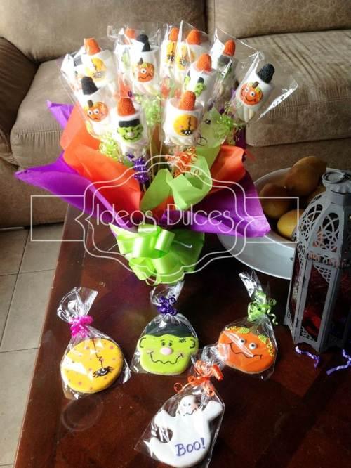 Masmelos y Galletas recordatorio para Fiesta de Halloween