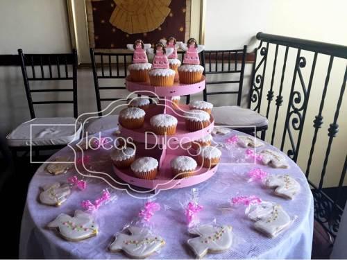 Cupcakes y Galletas para el Bautizo de Emma