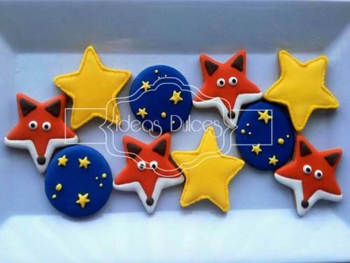Galletas de zorros, estrellas y firmamento