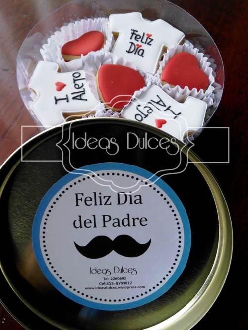 Caja de Mini-Galletas para Día del Padre