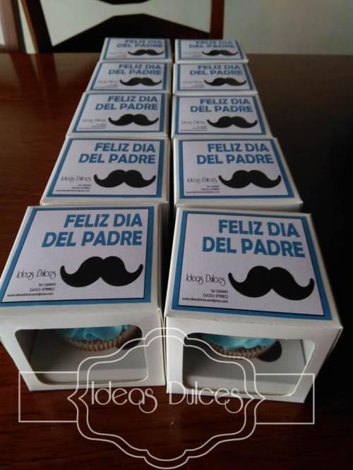 Cajas individuales de Cupcakes para Día del Padre