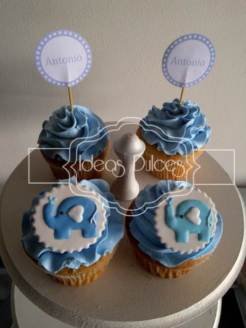 Cupcakes para el Baby Shower de Antonio