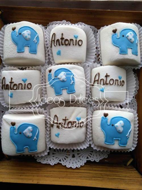 Masmelos pasaboca para el Baby Shower de Antonio