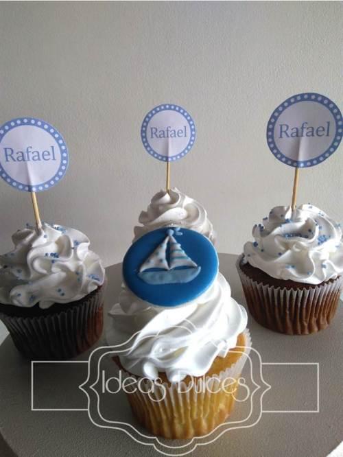 Cupcakes para el Bautizo de Rafael